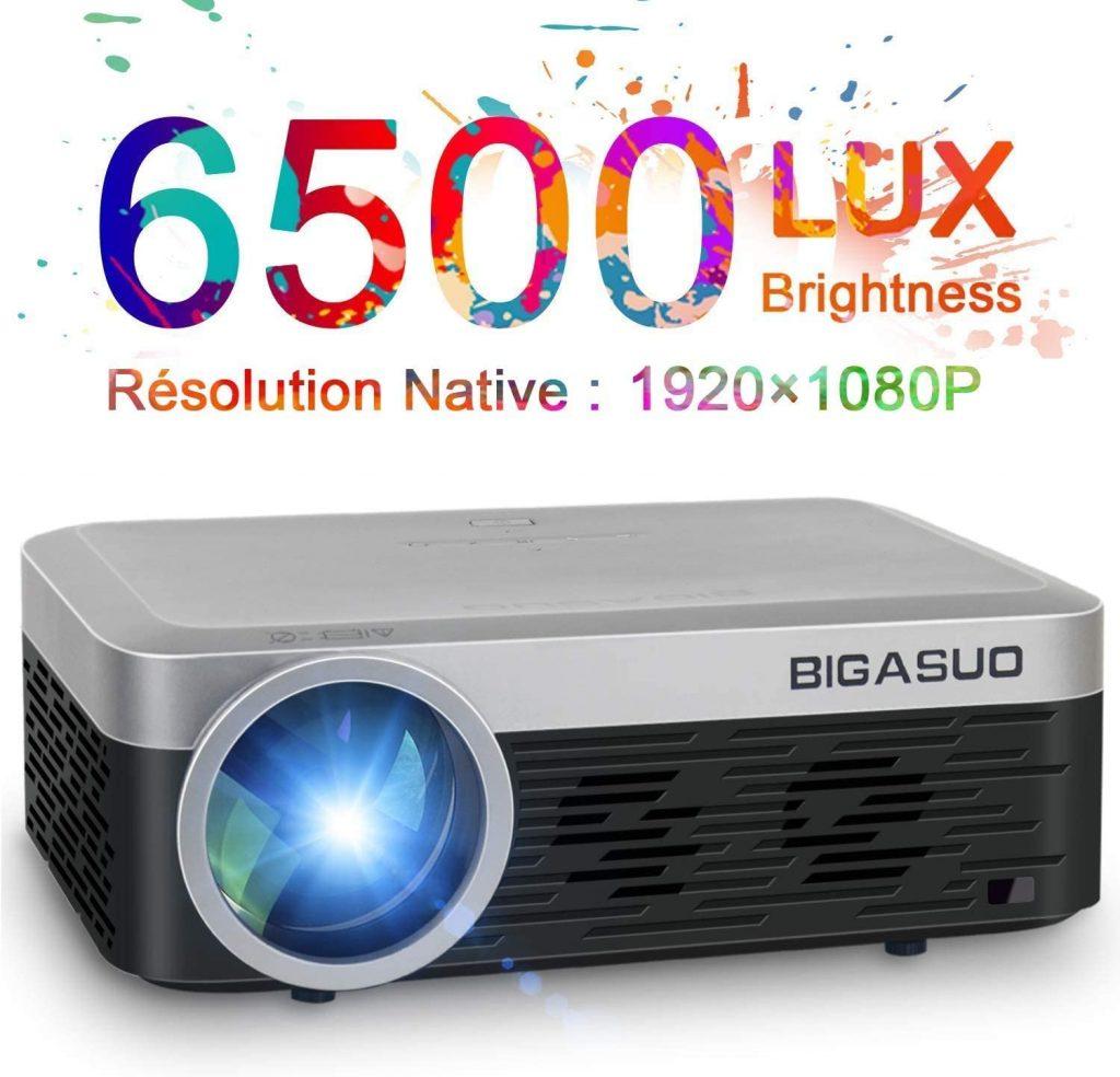 BIGASUO proyector fullHD 6500 lumenes