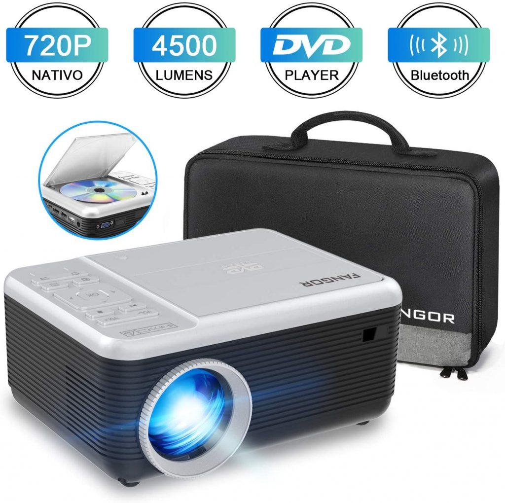 FANGOR Proyector portatil 1080p 4500 lumenes