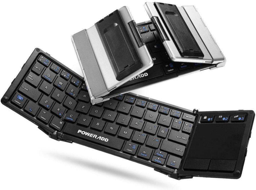 POWERADD Teclado Inalámbrico con Multi-touchpad de Español